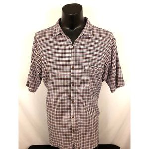 Patagonia Button Up Shirt Plaid Gauze Beige XXL